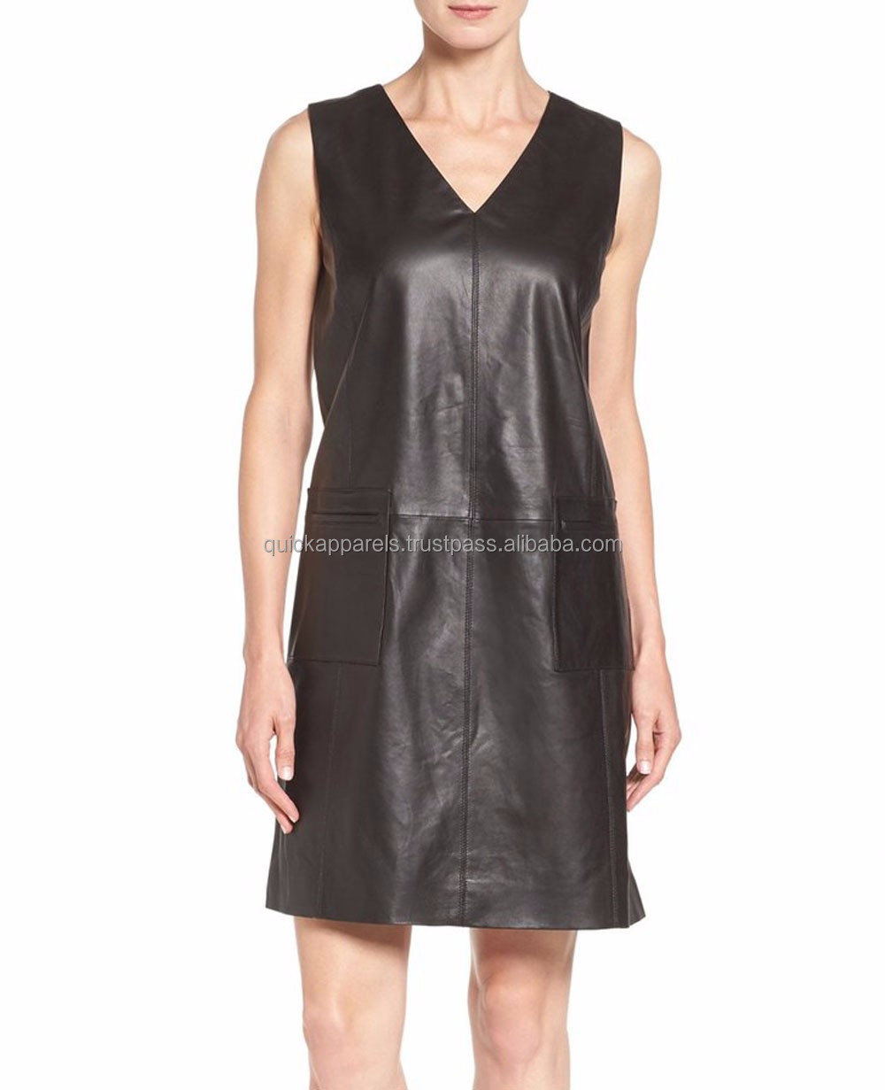 high-end quality women's lingerie tank top cheap faux leather dress