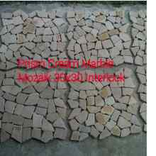 INDONESIA Natural Stone Wall Cladding Prism Cream Marble Mozaik