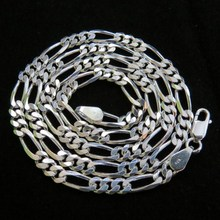 Virtual Figaro Shape Plain Silver 925 Sterling Silver Fine Work Chain, 925 Wholesale Chain Silver Jewelry, Hot Silver Jewelry
