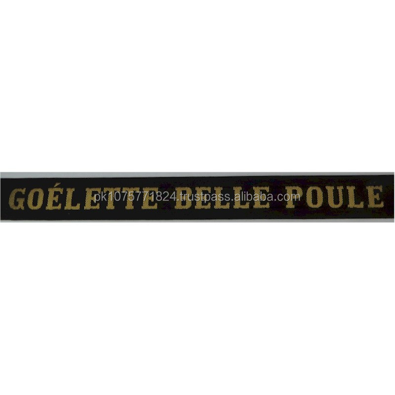 WOVEN BADGES Goelette Belle Poule Cap-Tally Woven Naval cap badge or cap tally