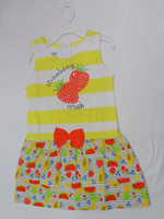 Kids Dress Summer Fashion - Single Jersey with Woven AOP Printed Dress
