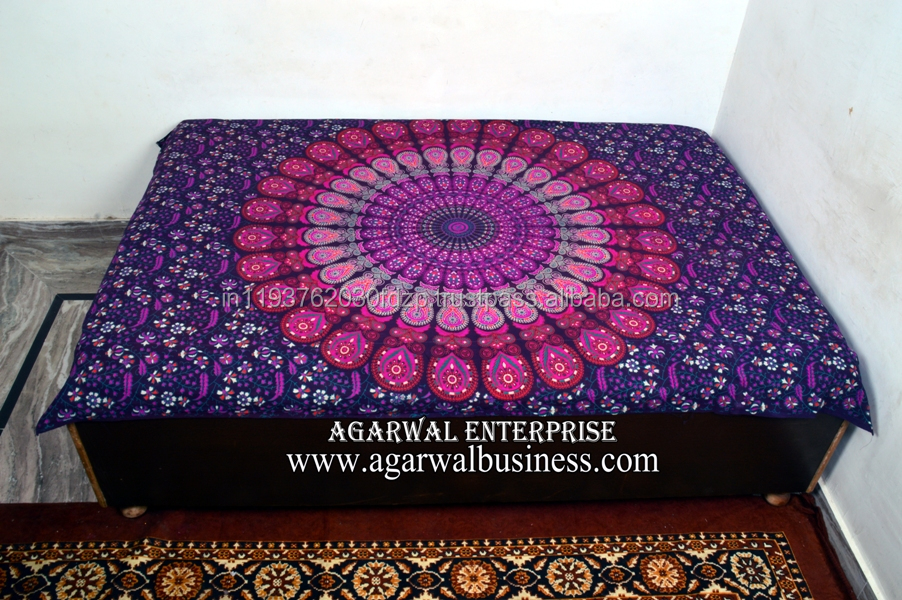 Indian Mandala Tapestry Hippie Wall Hanging Bohemian Decor Throw Twin Bedspread