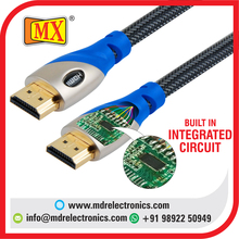 HDMI 2.0V MALE TO MALE CABLE WITH BUILT IN INTEGRATED CIRCUIT - 1.5 MTR