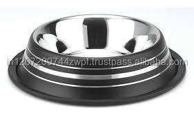 stainless steel dog bowl dog/pet food bowl colored ribbed india
