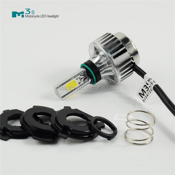 M3S Wholesale GOOD quality 32W 3000LM 6000K COB LED Hi/Lo Beam led Motorcycle Headlight lamp