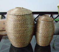 oval bamboo/rattan laundry basket 2016 from Vietnam