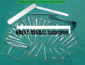 APPENDECTOMY and Hernia Surgical Instruments SET 74 Pcs Medical Surgical Tools SURGICAL INSTRUMENTS