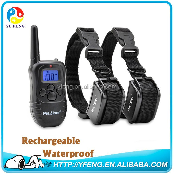 998DR Waterproof Rechargeable Wireless Dog Pet Training collar System, with 100 Level Shock and Vibration for 1 Dog
