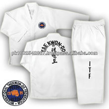 High Quality ITF Taekwondo Uniform White printed
