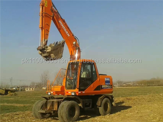 Used Doosan DH150W-7 Wheel Excavator, Doosan Wheel Excavator Korea Lowest Price