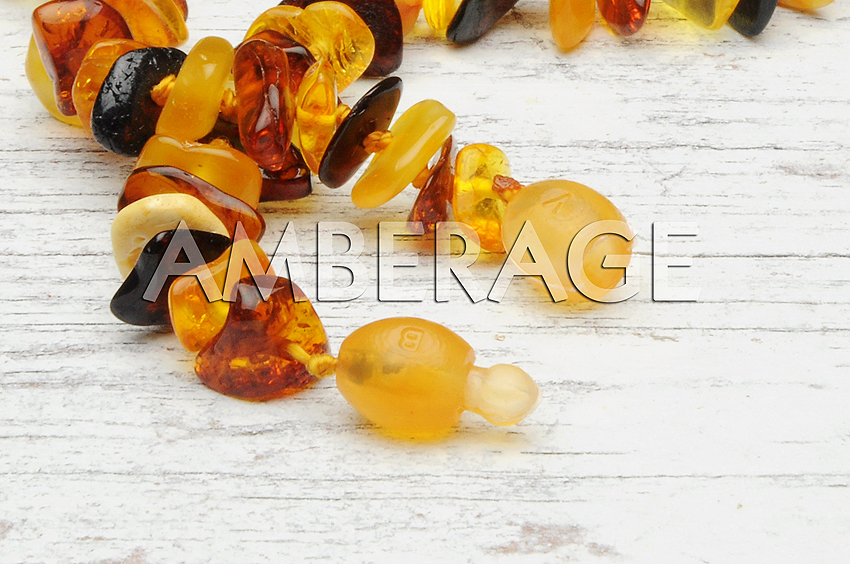 High Quality Natural Baltic Amber Baby Teething necklaces - Chips Lemon color