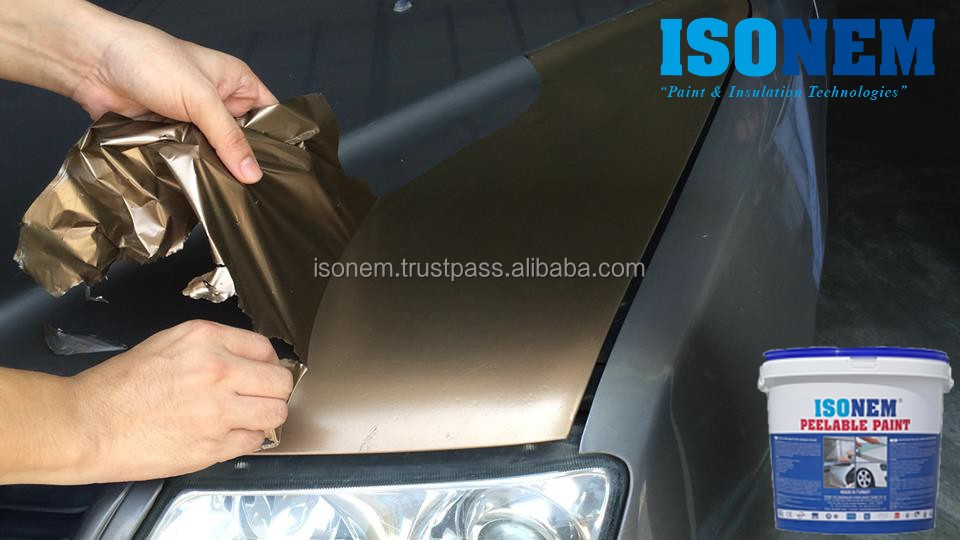 ISONEM PEELABLE PAINT, WATER BASED PEELABLE RUBBER PAINT, SURFACE PROTECTION SYSTEM