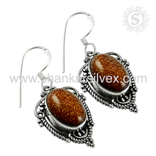 Awesome Collection Of Red Sun Sitara Earring 925 Sterling Silver Jewelry Natural Silver Jewelry Supplier