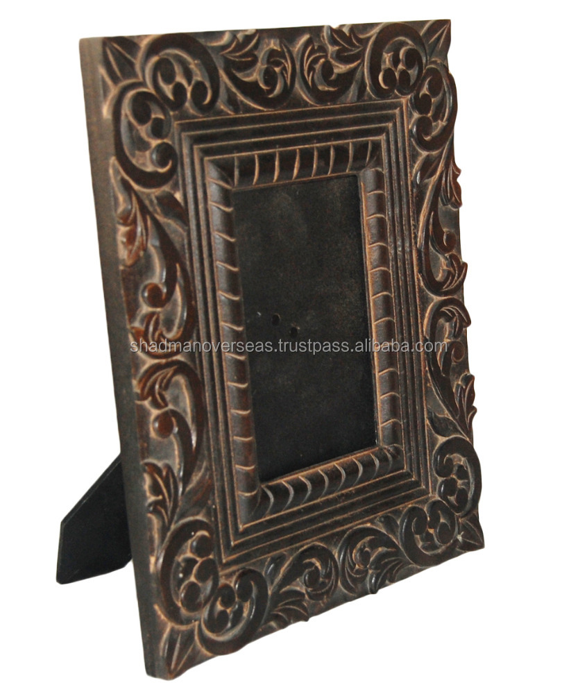 Best Antique look engraved/ carved wooden photo frame 12181
