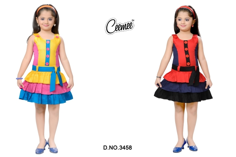 New Beautiful Design Cotton Frock For Girls