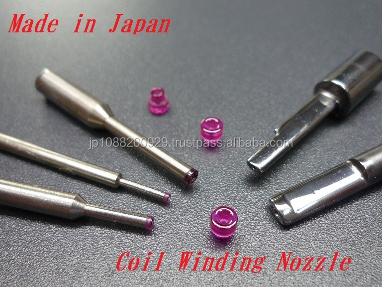 Reliable and High quality carbon black Ruby Nozzle for textile machine use , small lot order available
