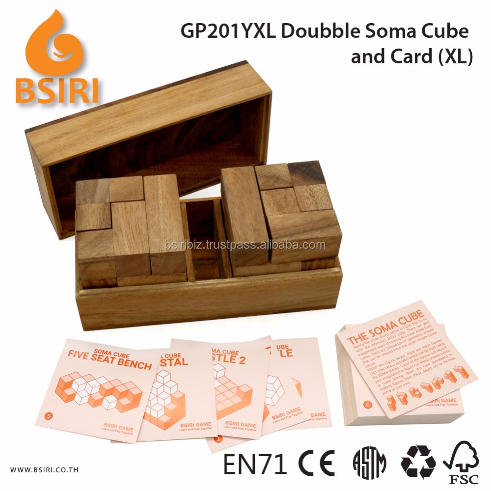 Doubble Soma Build and Card Wooden Mind Puzzles