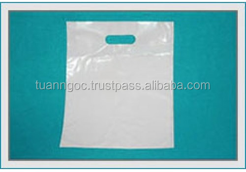 White/transparent die cut shopping bag wholesales