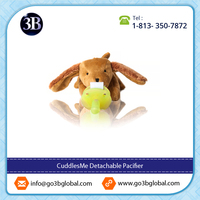 CuddlesMe Pacifier with Animal Toy Attached for Baby