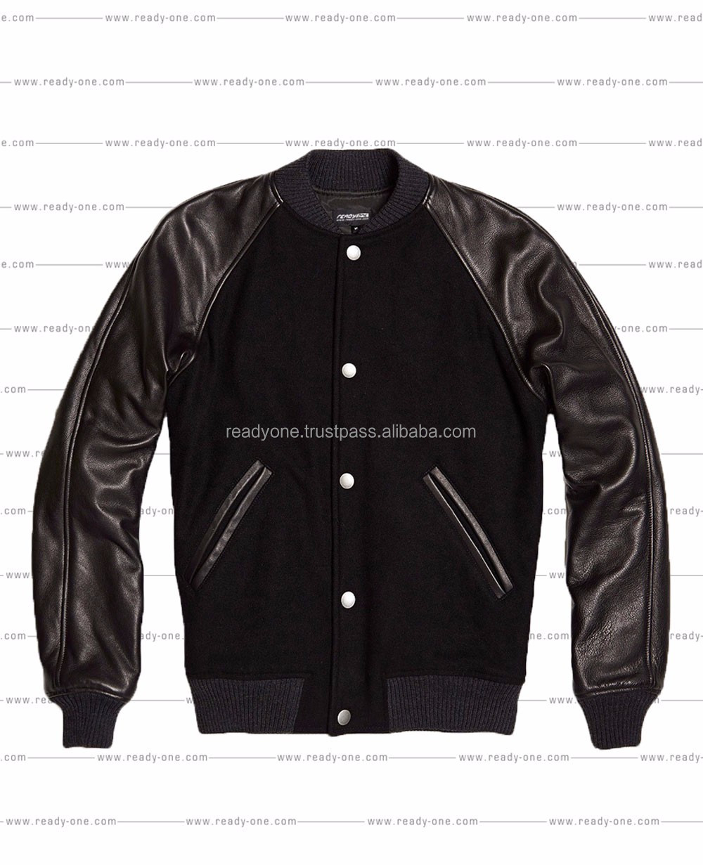 Vasity Jacket with Real Leather Sleeves/ Varsity Jacket/American Baseball Varsity Jacket