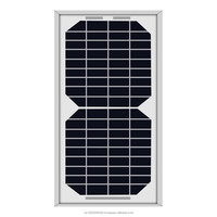 ACOPOWER 5W Monocrystalline Photovoltaic PV Solar Panel Module 12v Battery Charging