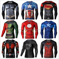 2016 Hote Sale Sex Skins Fitness Compression Wear /Sports Running Compression Tights/Custom Sublimation Compression Shirt