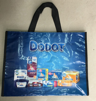 Supermarket recyclable shopping bag
