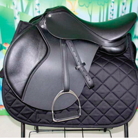 New Style Horse Riding Saddle Leather Foam with Stirrup - Genuine Cowhide Leather Saddle