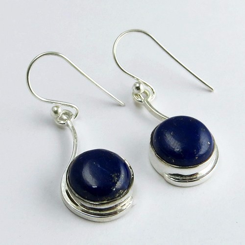 Spring Garland Amazing !! Blue Lapis 925 Sterling Silver Earring, Handmade Silver Jewelry, Wholeseller and Exporters