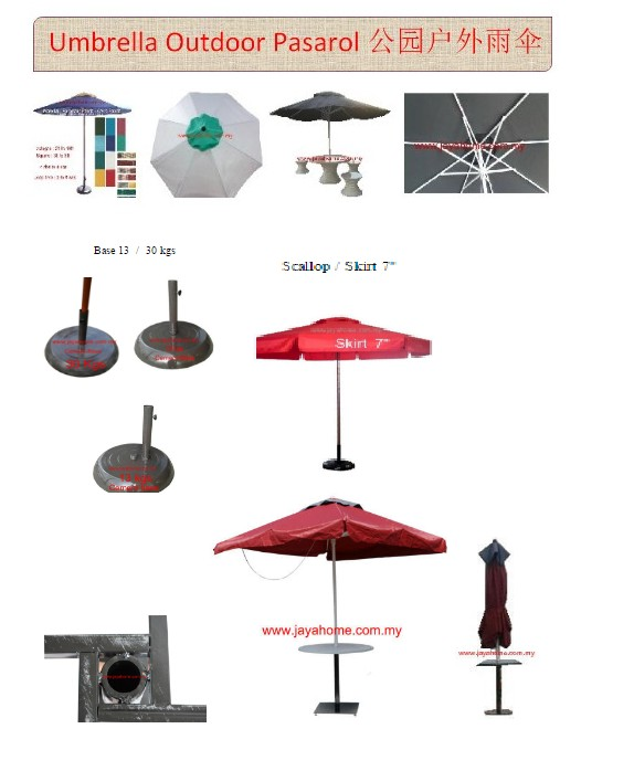 Parasol outdoor Cafe / Home Made in malaysia
