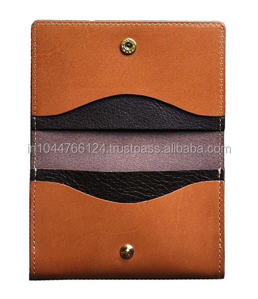 high quality custom leather wallet card case/ Leather Business Card Holder/wallet card case
