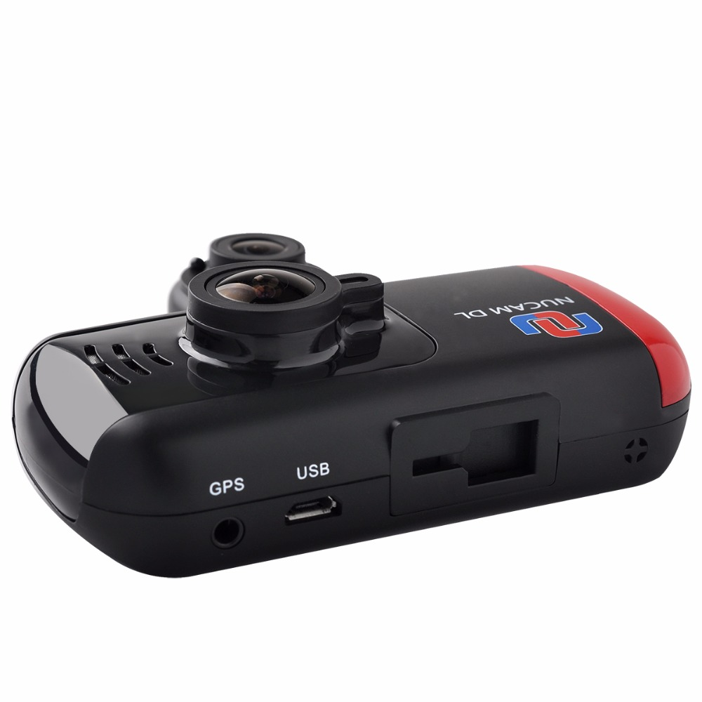 "Dash cam full HD 1080P video camera 3.0"" LCD 360 degree night vision dual lens car dvr with GPS"