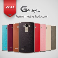 VOIA for LG G4 Stylus Skin Shield Genuine Leather Back cover