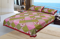 indian hand block printed bed sheet wholesale home textile cotton fabric bedsheet