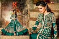 Green Embroidered Work Georgette Anarkali Salwar Kameez