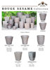Earthenware SSM Clay Natural/Glazed Planters