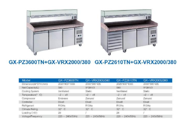 stainless steel commercial kitchen pizza counter,restaurant cabinet