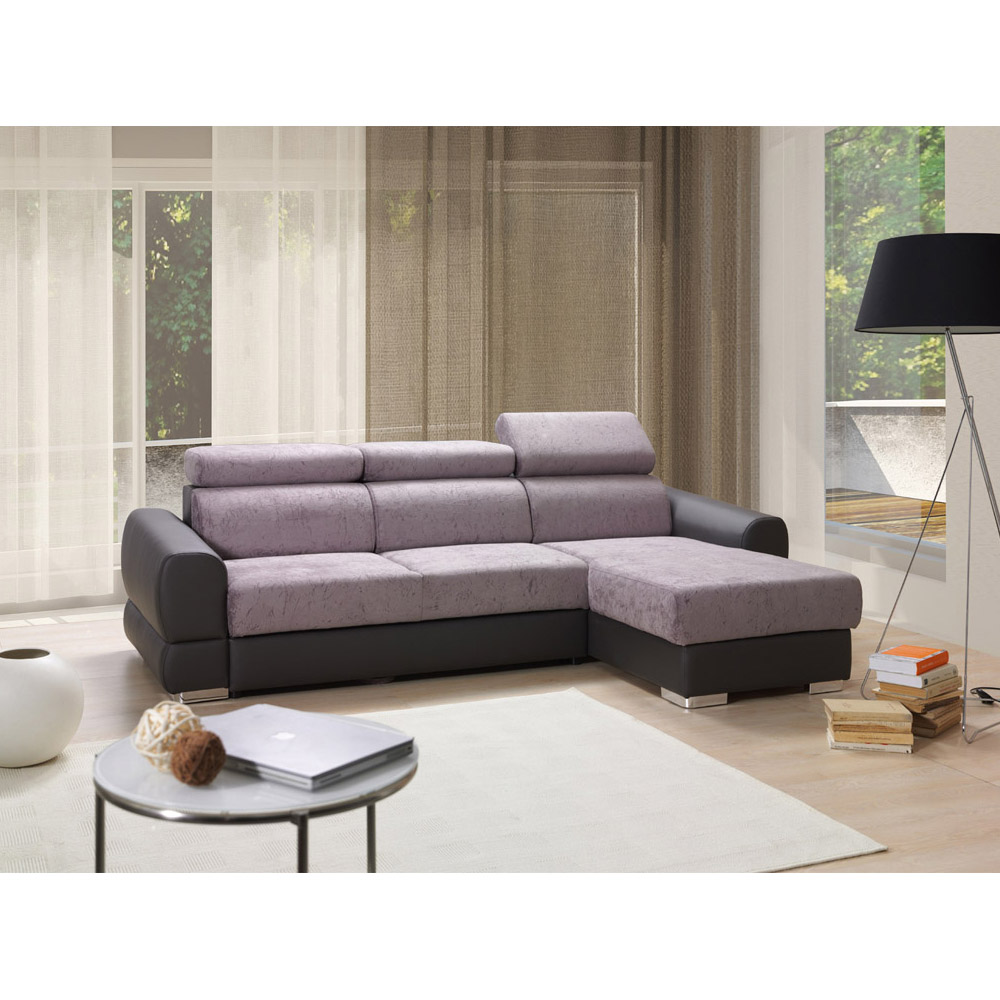 Corner sofa bed with storage OMAR