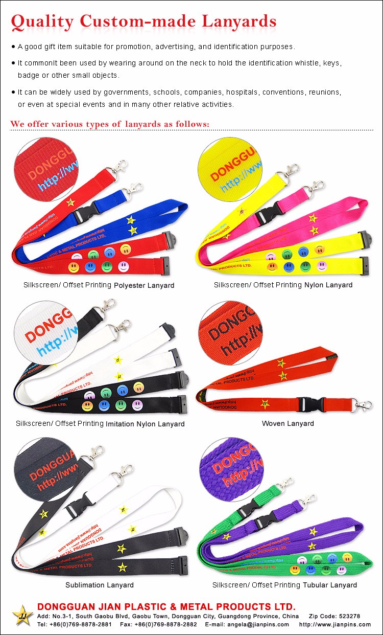 Superior Quality Factory Custom Lanyards with Logo