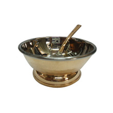 Stainless steel modern kitchen ware cheap copper item 16 PCS round 2 tones glazed Stainless steel copper item and tableware,fact