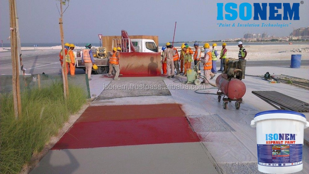 ISONEM ASPHALT PAINT FOR ROAD, BYCLE LINES, WALKWAYS, PARKS, GARRAGES