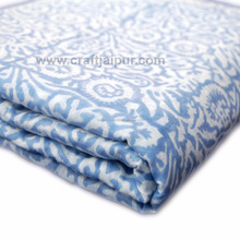 Abstract Blue Floral Printed Sewing Clothing Indian Fabric Wholesale