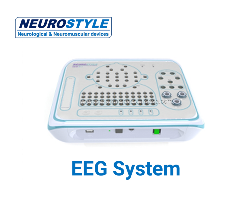 Low price EEG device with photic stimulator and video