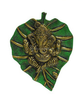 Metal Green Leave Ganesha