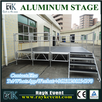 US portable folding stage stairs linear stage aluminum assembly stage