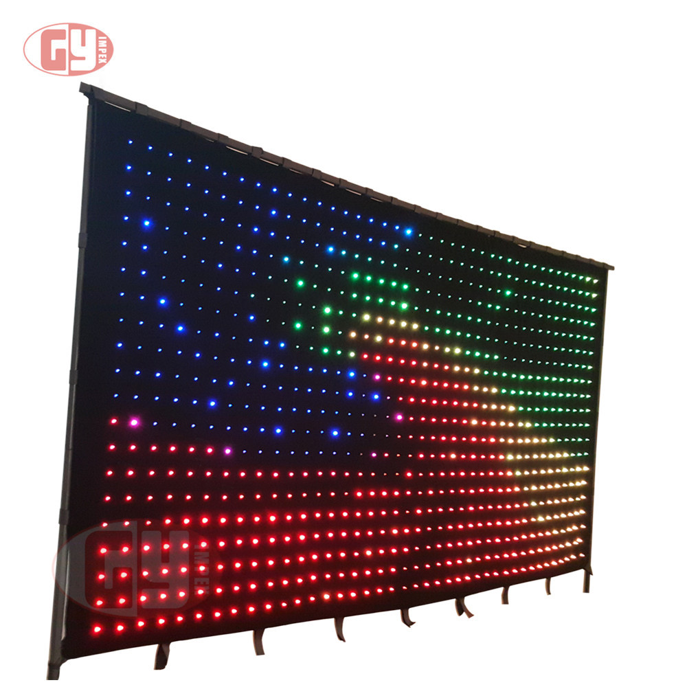 3m*4m P9cm SD Version full color led video curtain screen