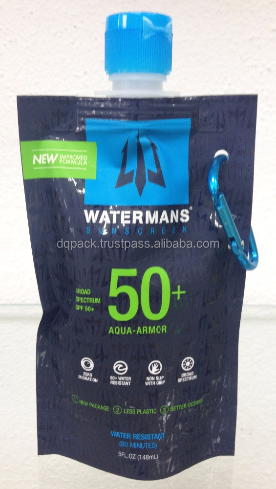 drinking water plastic bag with nozzle,reusable mineral water stand up pouch with spout,mineral water plastic packaging bag