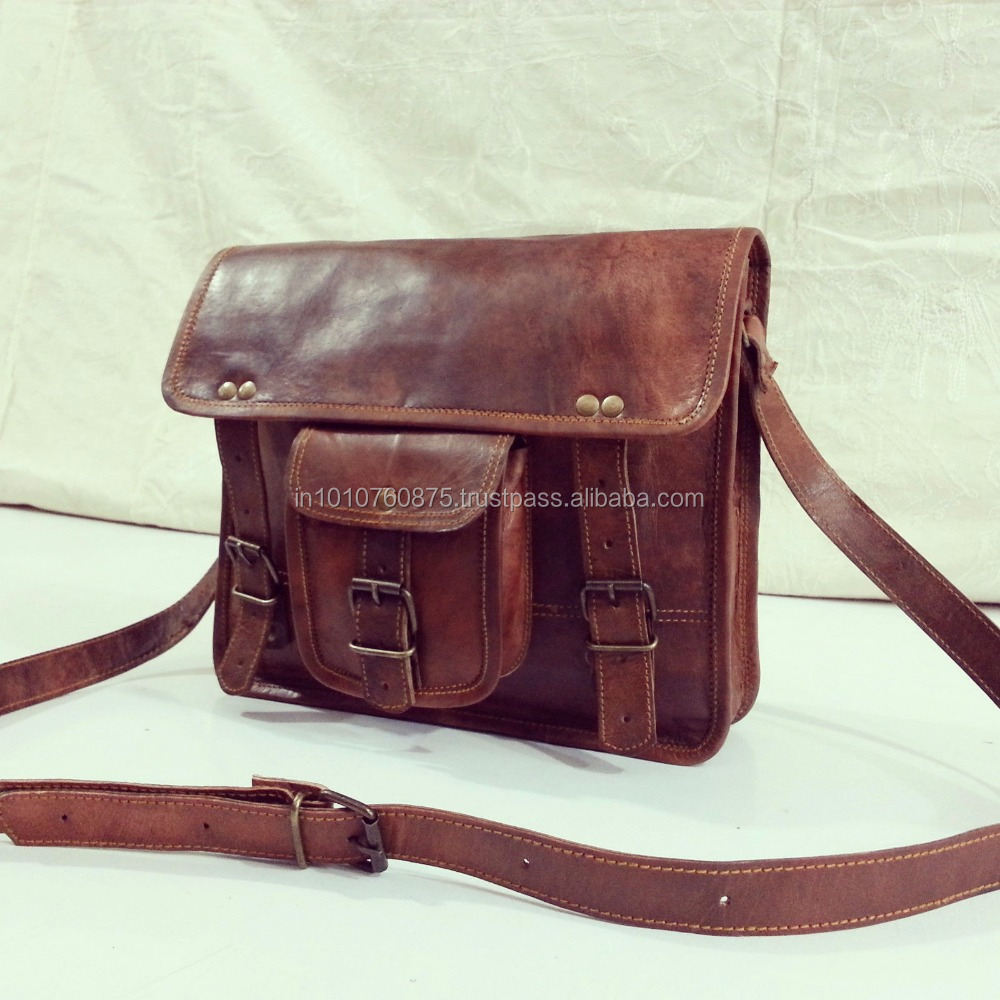 Indian Leather Bag Office Bag for Men's Leather Briefcase Bag