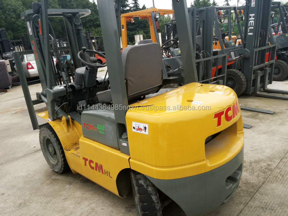 used TCM forklift FG25N5T Japanese forkman 2.5 tons truck hot sale good performance in Shanghai