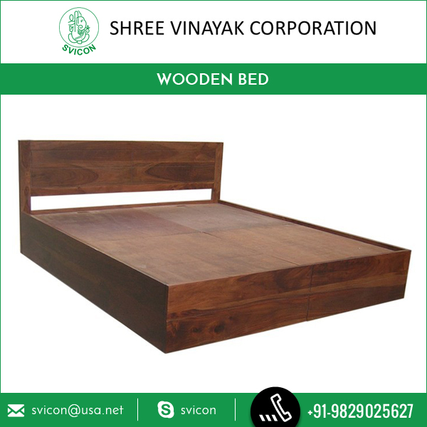 Classic and Comfortable Design Wooden Double Bed at Competitive Price